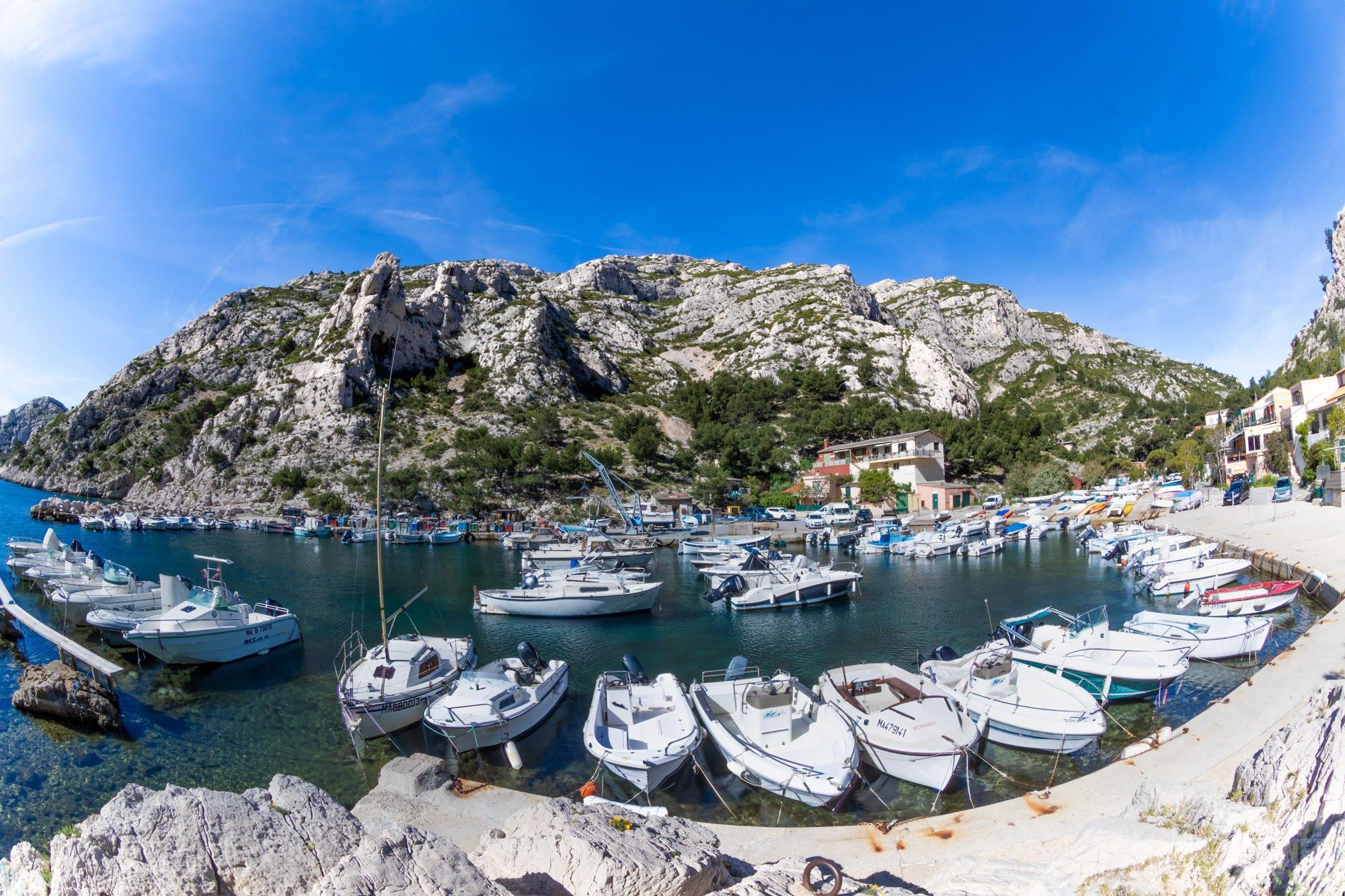 Morgiou Calanque harbor, Azure coast France