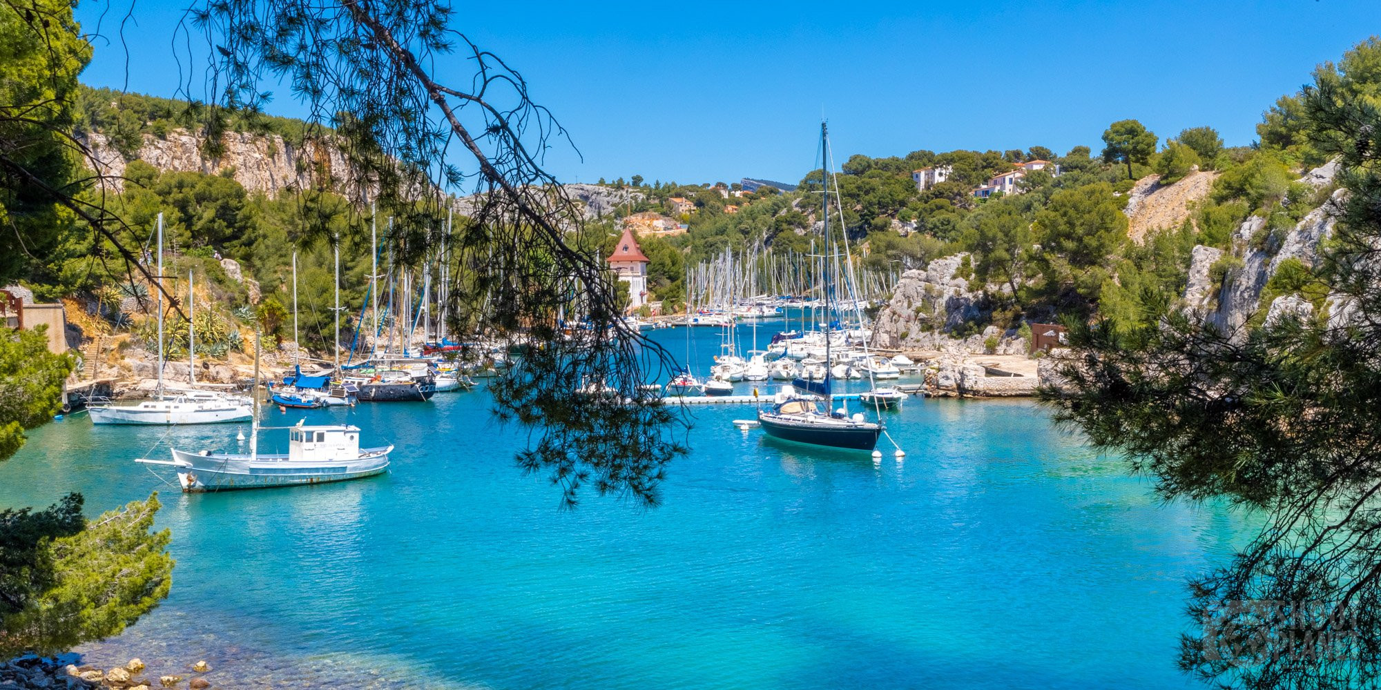Port-Miou calanque harbor, Azure coast France