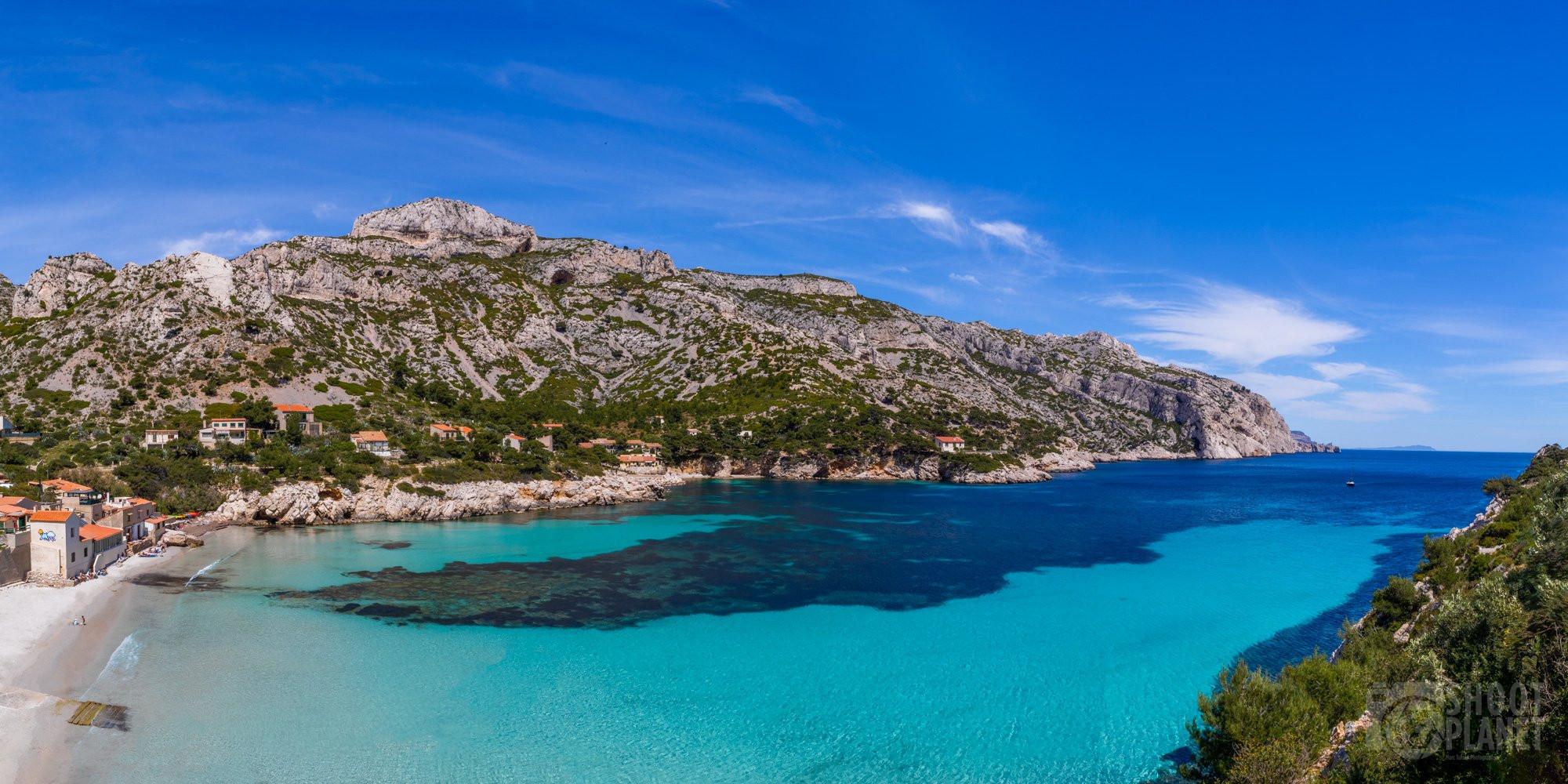 Sormiou Calanque aerial view, Azure coast France