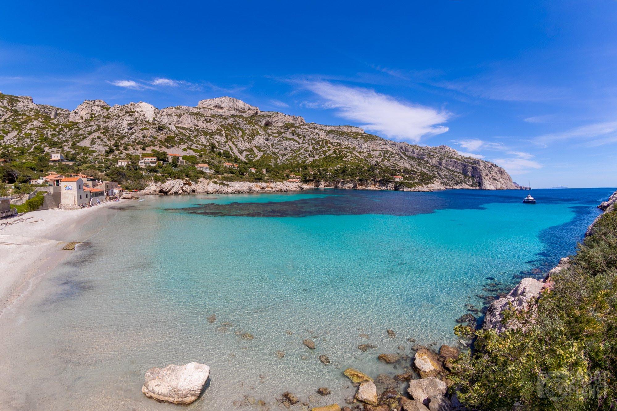 Sormiou Calanque, beach, Azure coast France