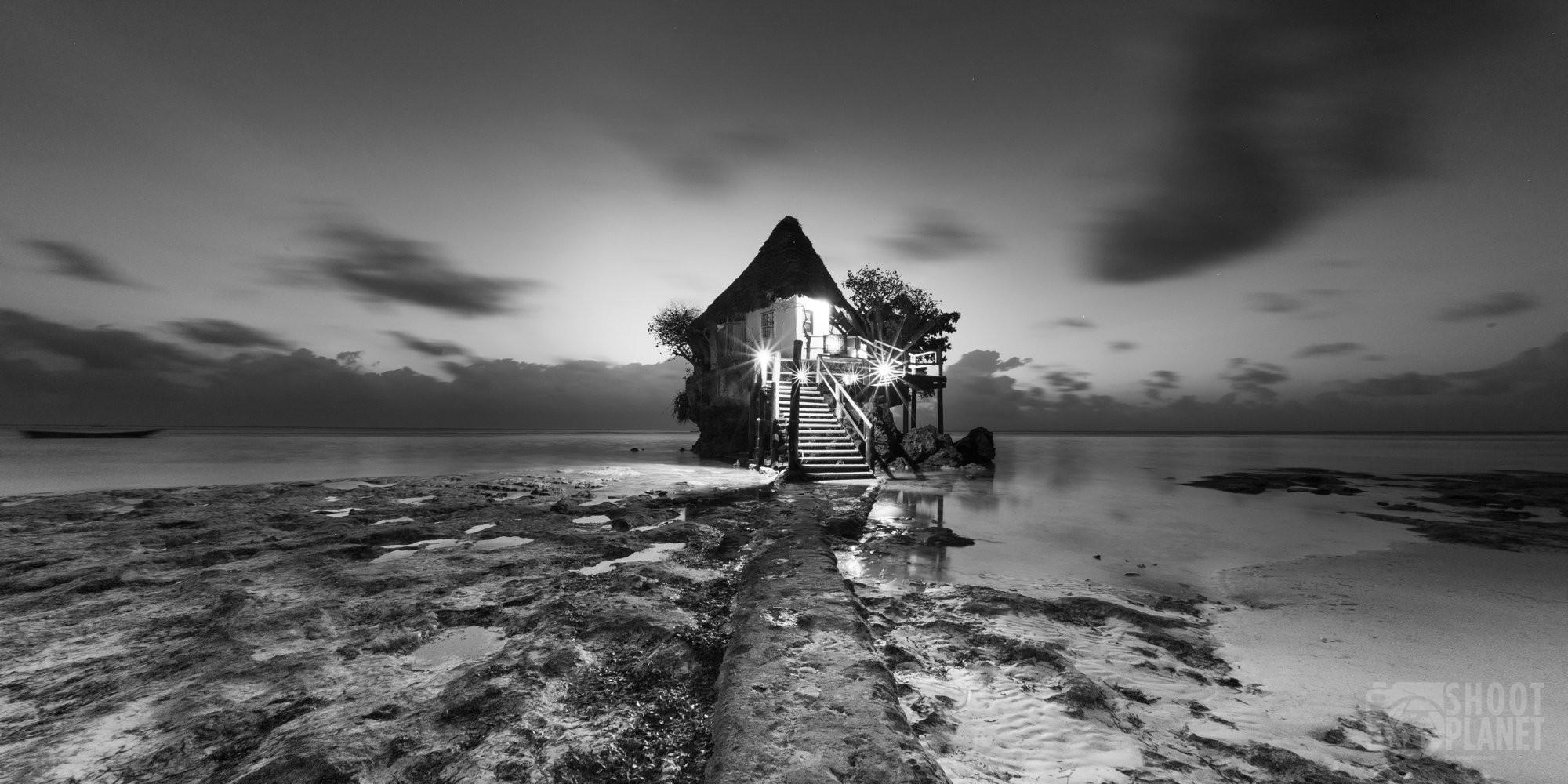 "Pingwe beach ""the rock"" restaurant, Zanzibar Tanzania"