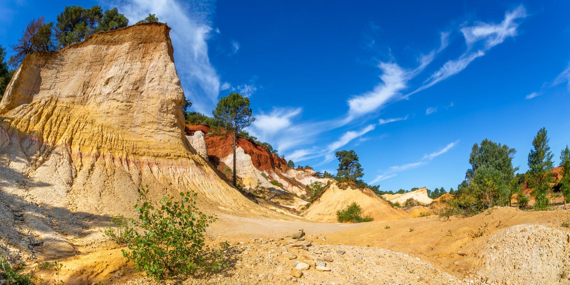 Colorado Provençal landscape in Vaucluse, France