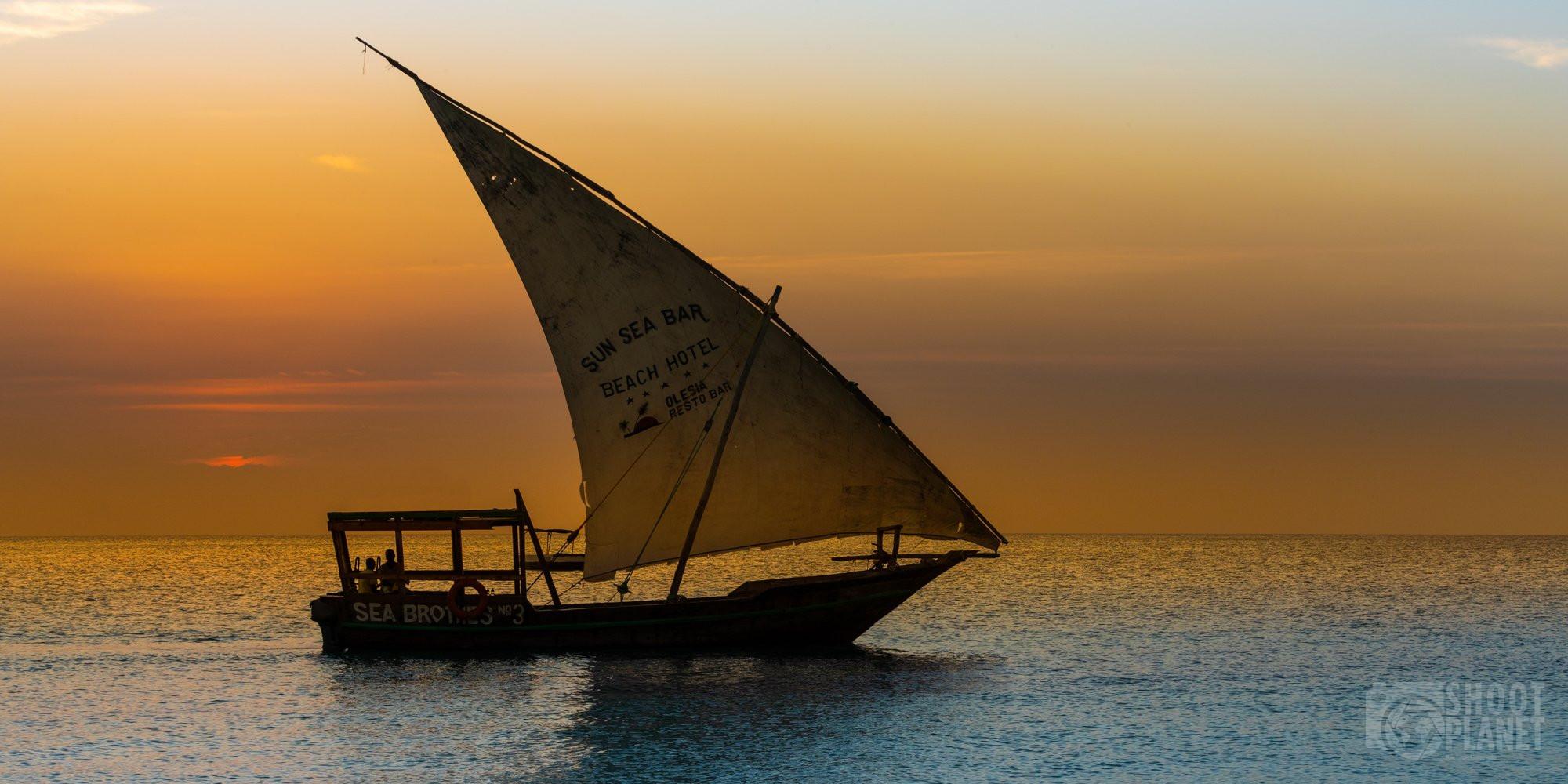Kendwa beach boat sunset, Nungwi, Zanzibar Tanzania