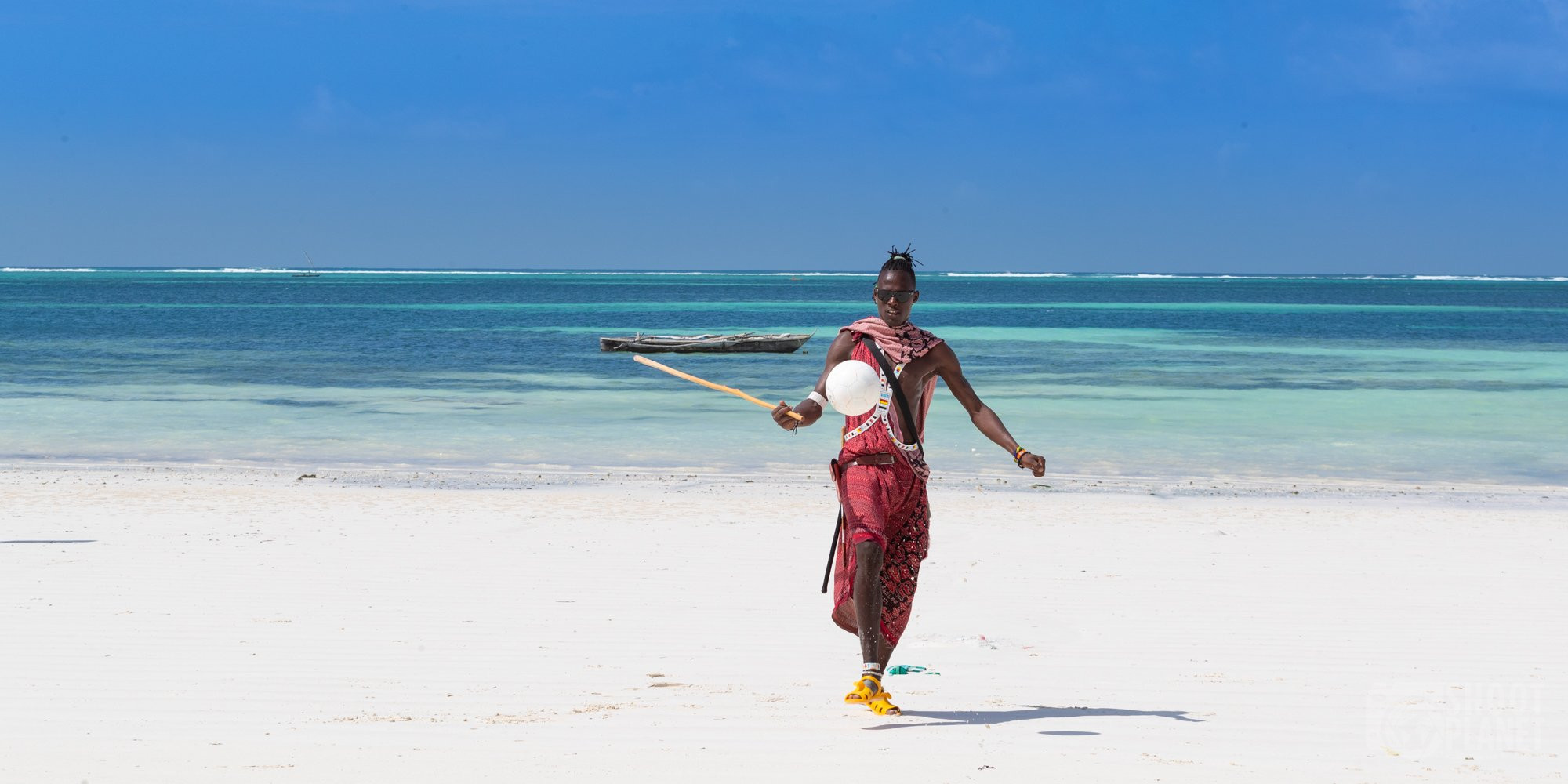 Kiwengwa beach soccer player Zanzibar Tanzania