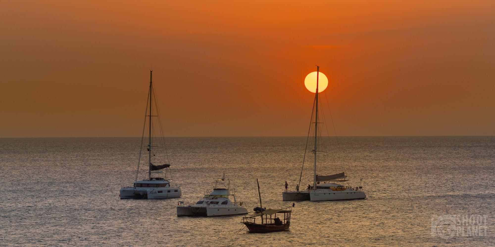 Mangi's beach sunset, Nungwi ZanzibarTanzania