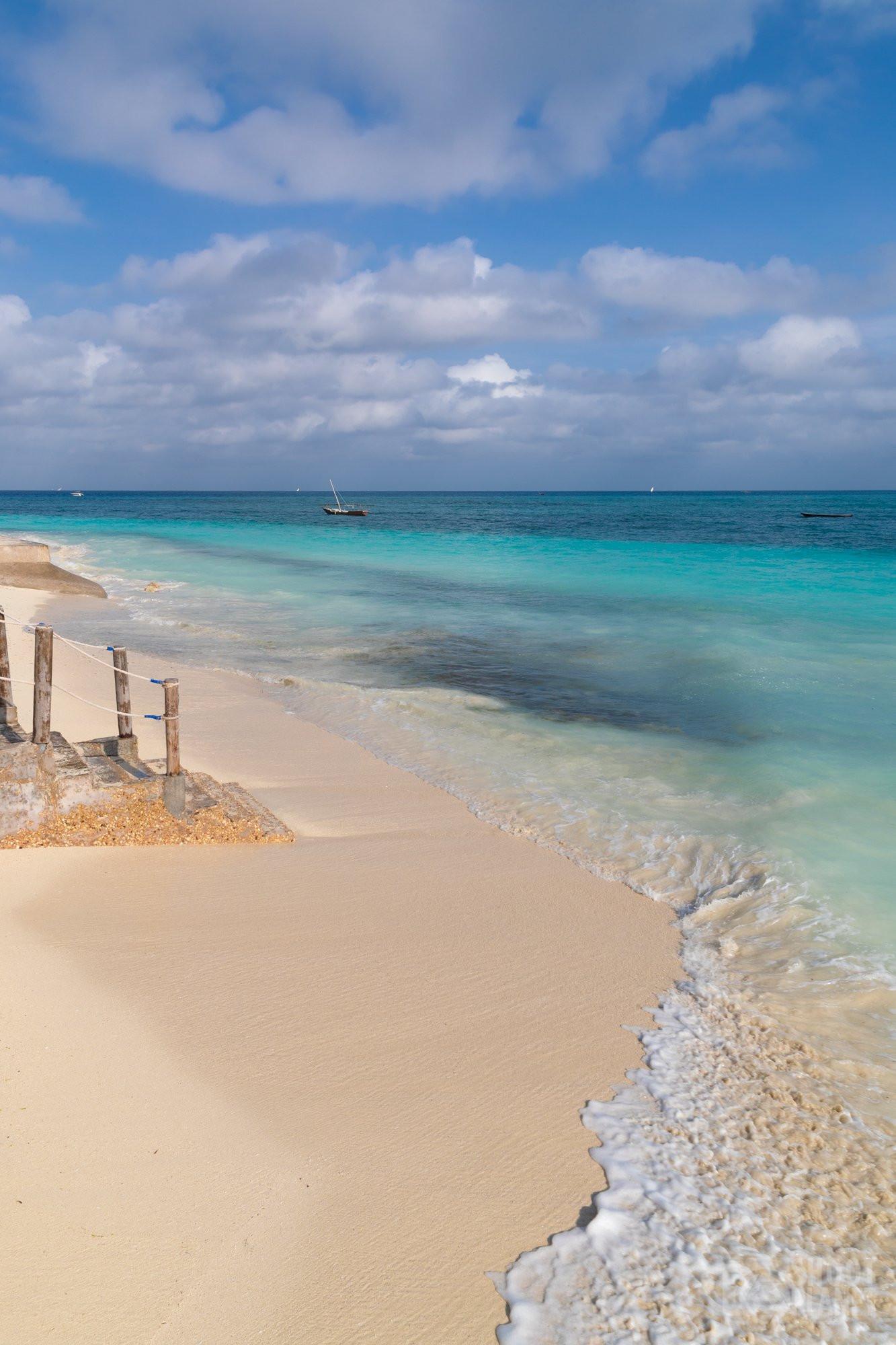 Nungwi pristine beach wave, Zanzibar Tanzania