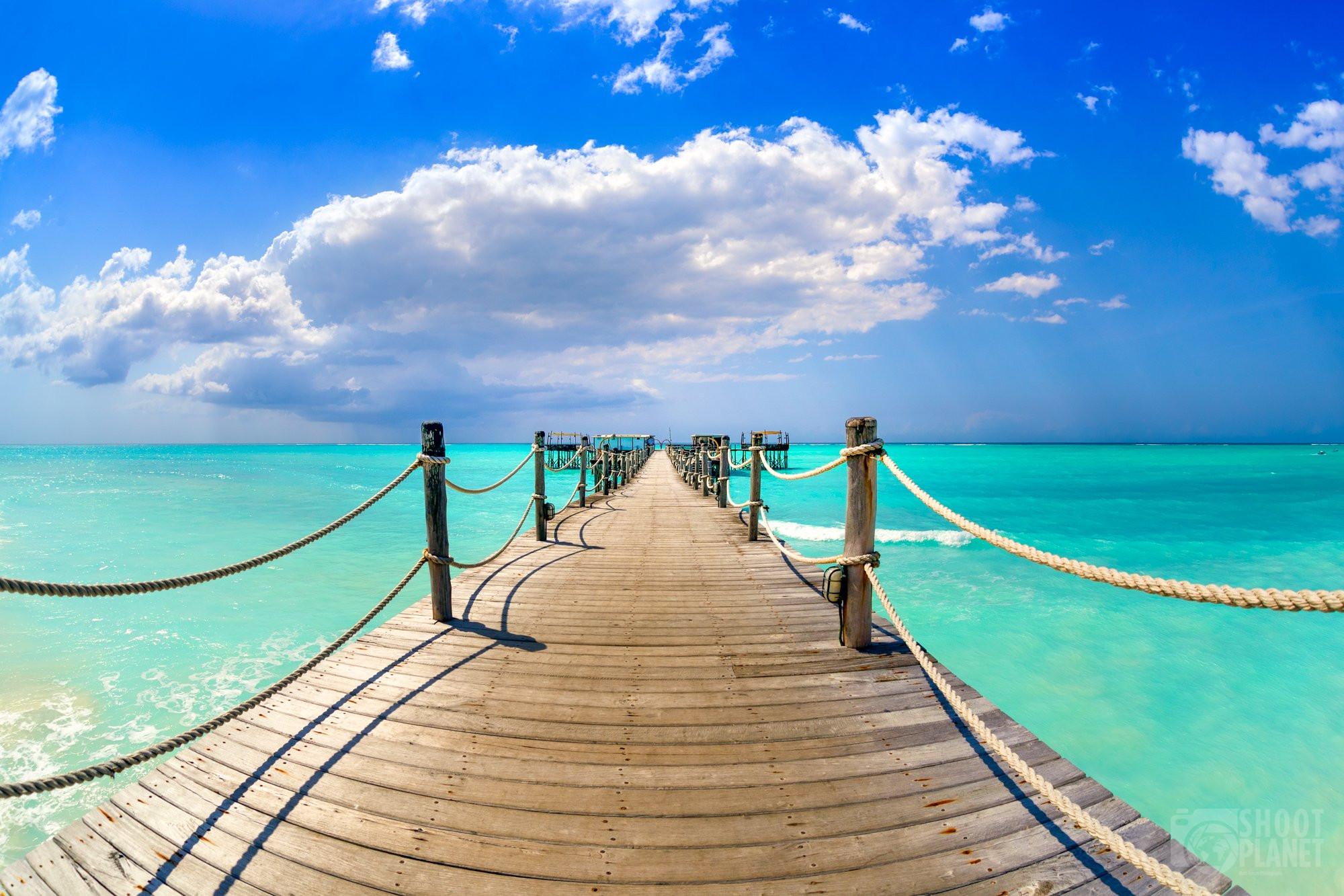 Infinite Pier near Nungwi beach, Zanzibar Tanzania