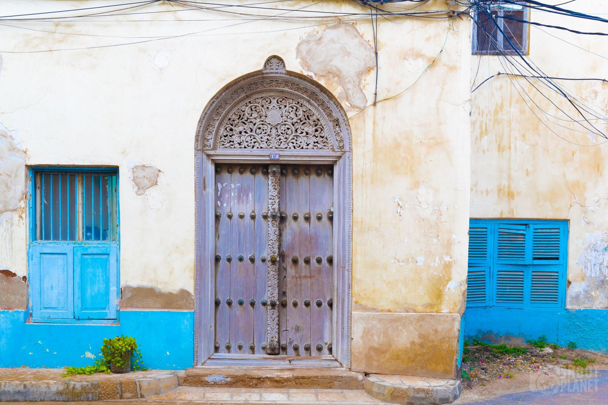 Stone Town wooden door, Zanzibar, Tanzania