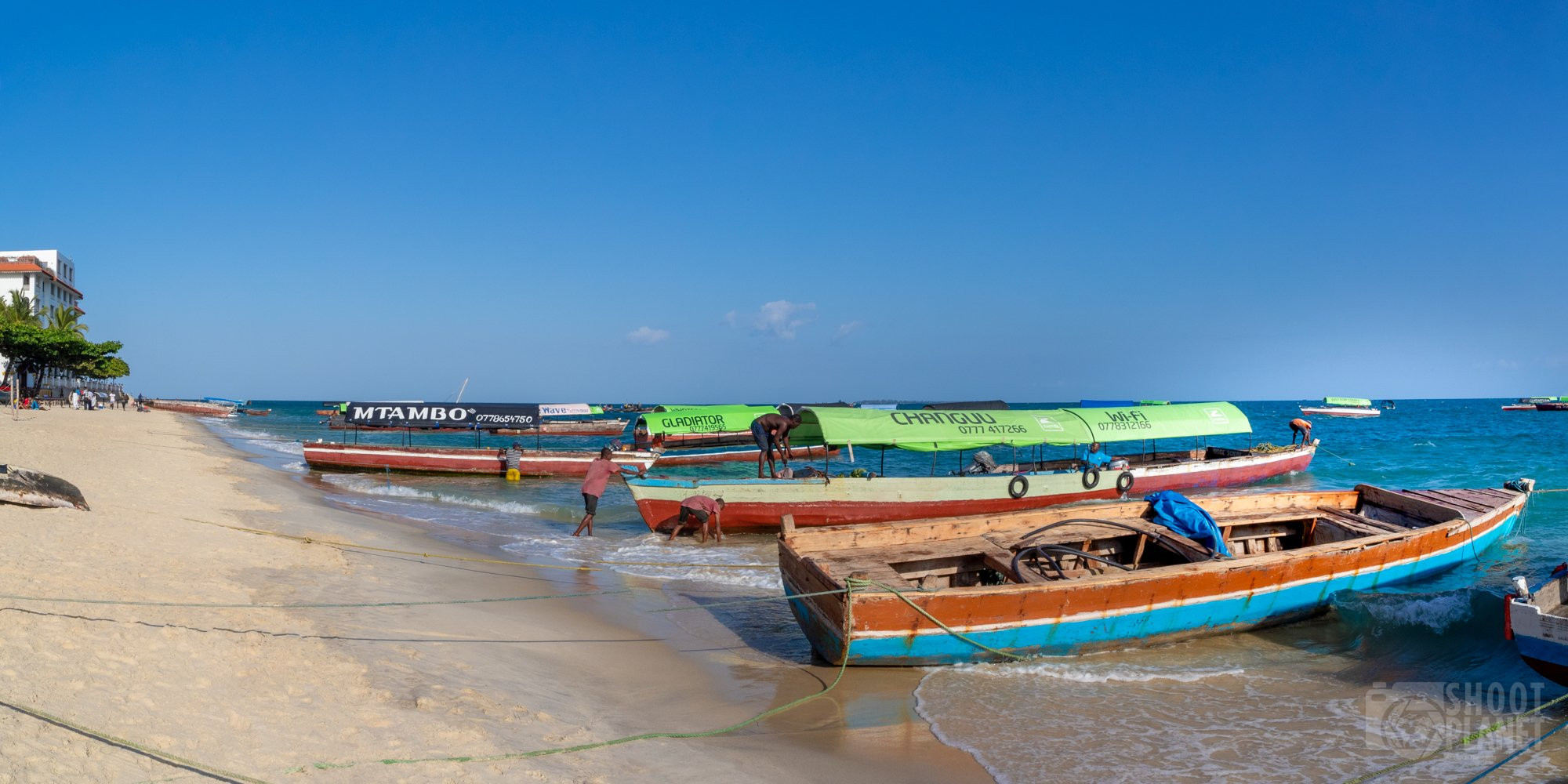 Stone Town fishing boats, Zanzibar Tanzania