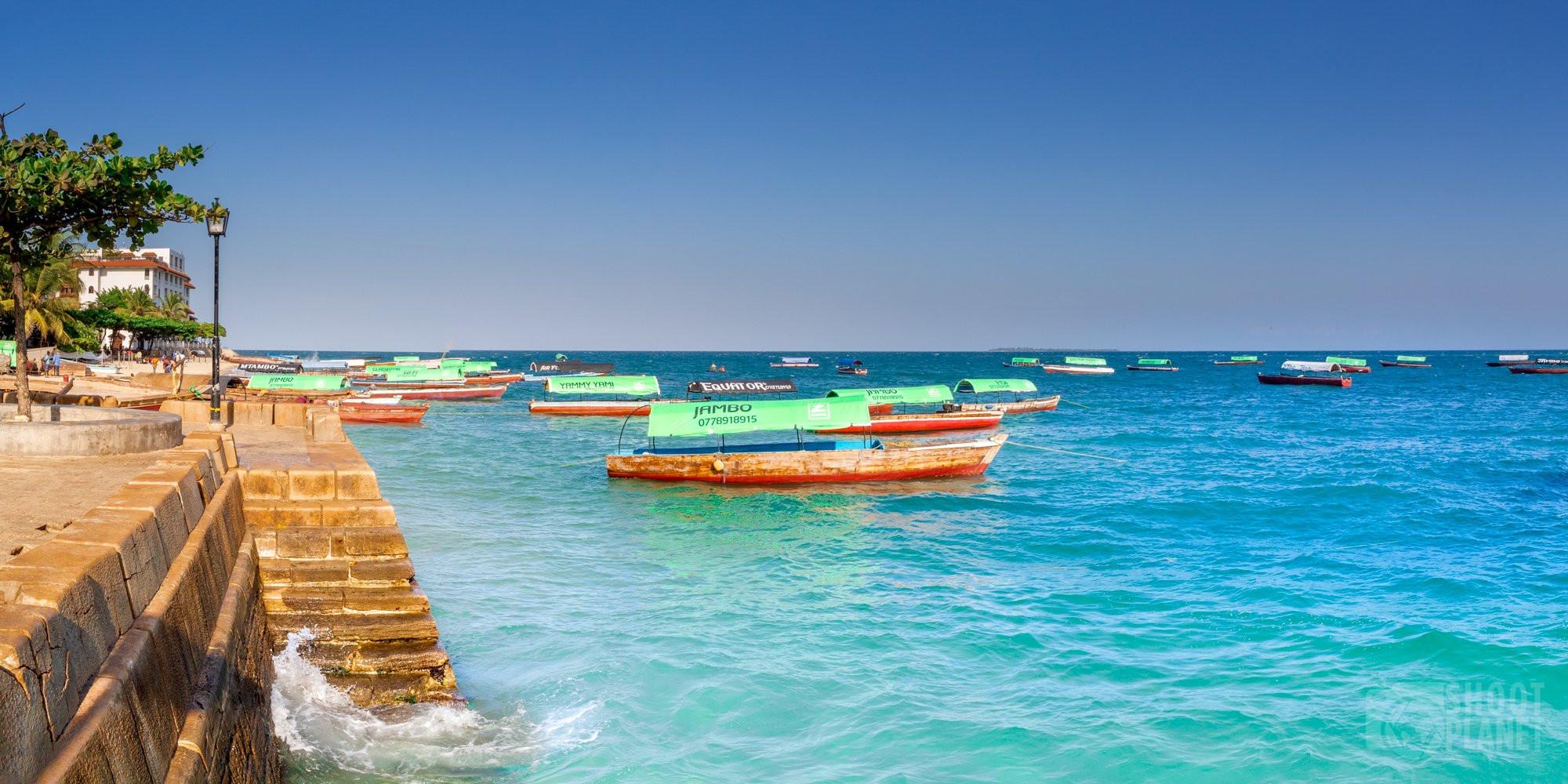 Stone Town ocean front, Zanzibar Tanzania