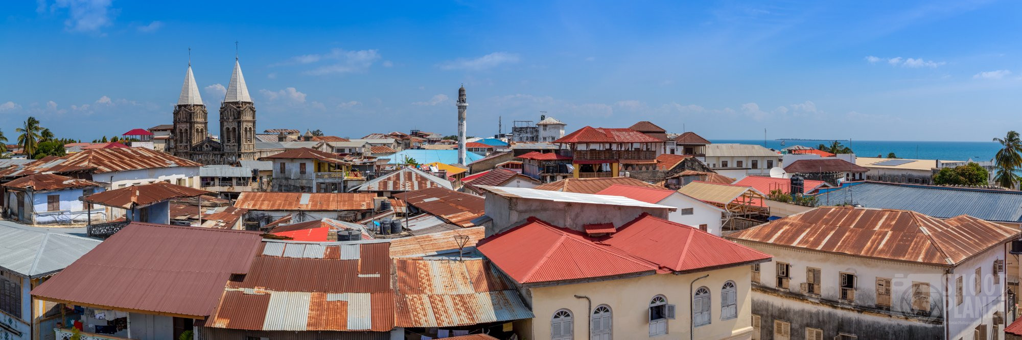 Stone town skyline Zanzibar city, Tanzania