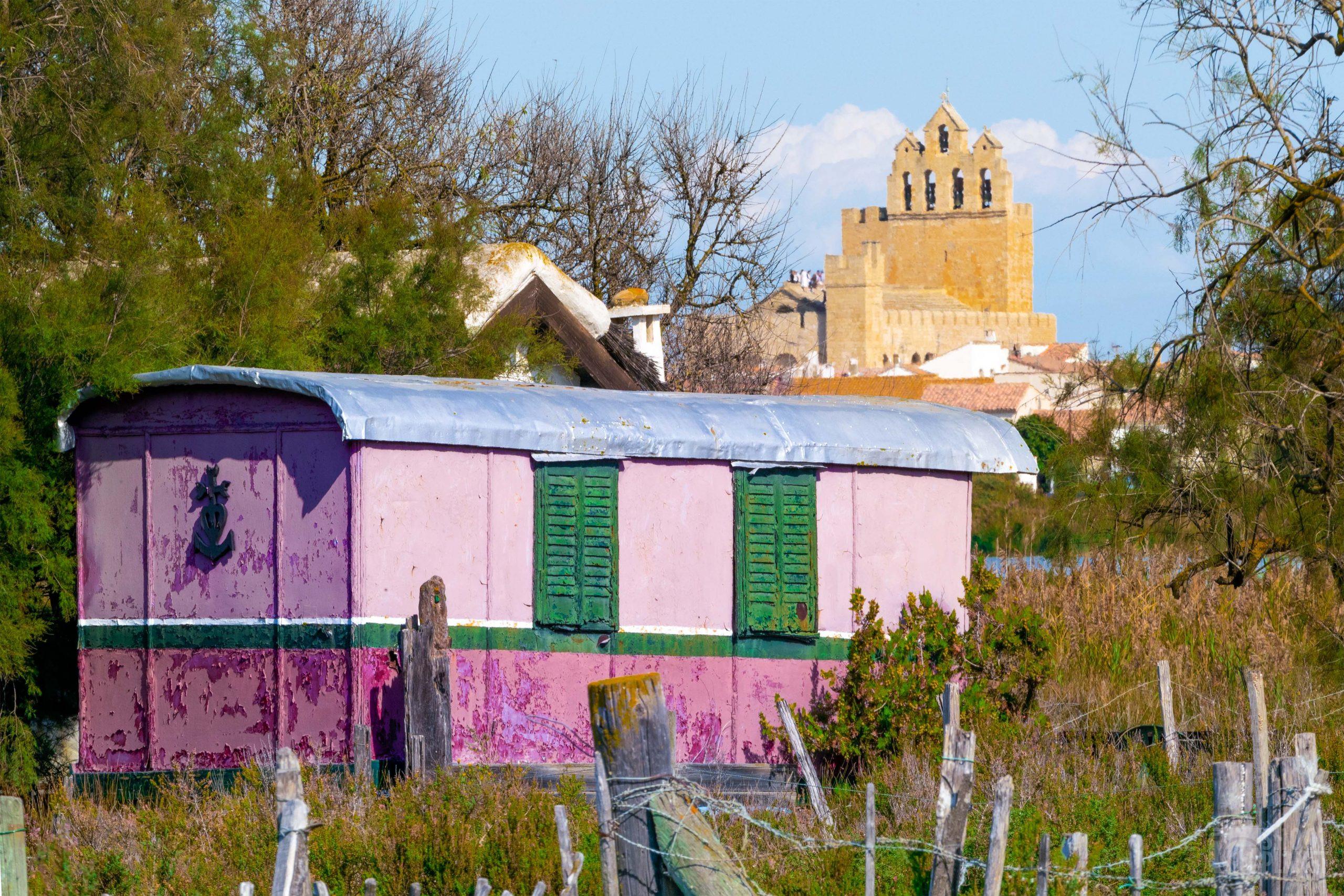 Saintes-Maries de la Mer gypsy caravan, Camargue France